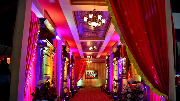 Wedding lawn mandap decoration